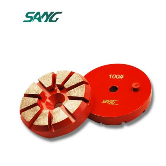 3inch 10segments grinding pad, china grinding tool, abrasive disc for grinding concrete
