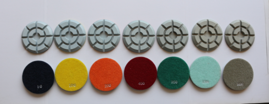resin concrete polishing pads
